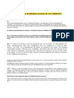 évolution des elements de définition du fonds du commerce
