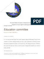 Education Committee Report 2020