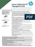 Data sheet HP Color Laser Jet Managed E57540dn