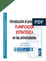 Planificación Estratégica en Universidades