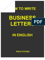 How To Write Business Letters in English