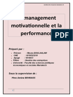 le management motivationnel et la performance de l'entreprise