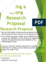 3IsWriting a Strong Research Proposal