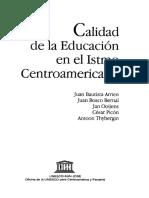 1996 Calidad en La Ed. Superior Centro America