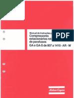 Manual de Instruções GA 807-1410 Ar e W