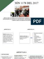 DIAPOSITIVAS RESOLUCIÓN 1178 DEL 2017