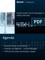 System Center Service Manager and Opalis Overview (June 2010)