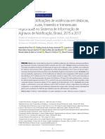 Perfil das notificações de violências em lésbicas, gays, bissexuais, travestis e transexuais registradas no Sistema de Informação de Agravos de Notificação, Brasil, 2015 a 2017