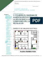 Elabora diagrama de alimentación eléctrica