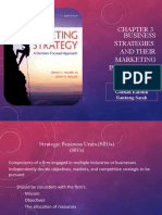 Chapter 3 Business Strategies and Their Marketing Implication
