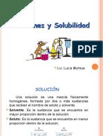 Soluciones y concentraciones químicas