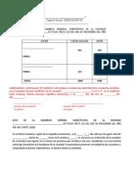 ACTA DE ASAMBLEA CONSTITUTIVA inmobiliaria