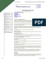 Zinc Diagnostic Tests..... a Guide to Zinc Deficiency Tests.