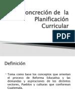 CLASE Concreción de  la Planificación Curricular 31 OCTUBRE