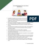 Normas de comportamiento en aula virtual