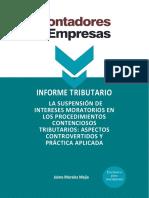 INFORME TRIBUTARIO SUSPENSION DE INTERESES MORATORIOS 01022021