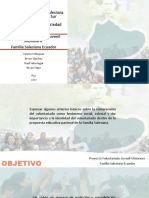 Proyecto Voluntariado Juvenil Misionero Familia Salesiana Ecuador