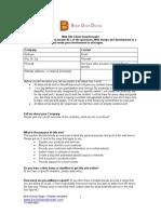 Web Site Questionnaire1