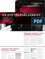 Lebanese Parliamentary Monitor pamphlet English