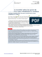 Consenso mundial sobre las guías de intervencion para rehabilitacion cardiaca