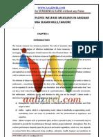 A STUDY ON EMPLOYEE WELFARE MEASURES IN ARIGNAR ANNA SUGAR MILLS,TANJORE