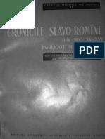 Cronicile slavo-române