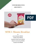 Consumer Behaviour Assignment 1, Group 5