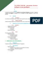 11) Immunité-anti-infectieuse- mécanisme, facteurs spécifiques et non spécifiques