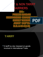 tariff nd non tariff barriers shrey