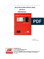 Addressable Fire Alarm Control Panel AW-FP100 User Manual