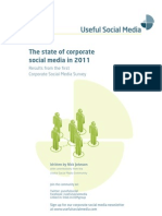 The State of Corporate Social Media 2011 - sample
