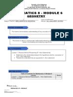 Mathematics 8 - module 6