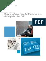 Beispielaufgaben Demo-Version Digitaler TestDaF