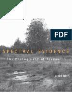 Ulrich Baer - Spectral Evidence