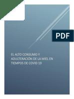 ADULTERACIÓN DE MIEL EN TIEMPOS DE COVID