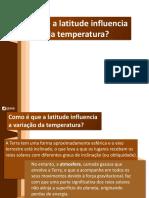 Variação da temperatura com a latitude(1)