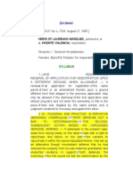 HEIRS OF MARQUEZ V GATCHALIAN - ALTERNATIVE DEFENSES