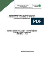 ANSI_Z16.1 ANALISIS Y CODIFICACION LESIONES