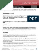 Délibération de la Ligue Nouvelle-Aquitaine