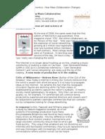 Long Wikinomics article for homework