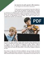 Articolo benefici musica