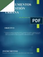 Instrumentos de Gestión Urbana