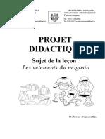 Projet Didactique Clasa a 3