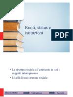 Pp. 1 Ruolo Status, Istituzioni