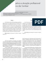 Avaliação objetiva e atuação profissional na dor lombar