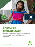 Relatório Oxfam - Vírus Da Desigualdade