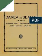 Dare de seamă asupra Activității Soc. Propășirea Iașilor 1929-1930