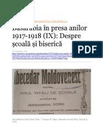 Basarabia în presa anilor 1917-1918 IX
