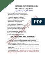 Essay Topics 2021 Mains
