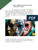 Conoces el origen y significado de las máscaras del carnaval de Venecia